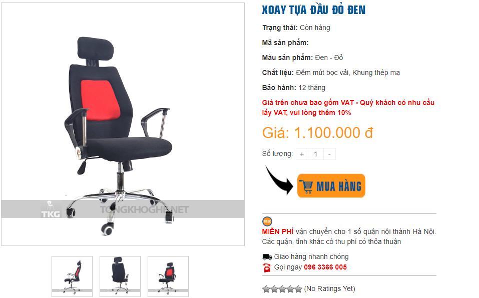 Mua ghế xoay giá rẻ hà nội