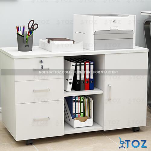 Tủ nhỏ văn phòng với thiết kế đơn giản, tiết kiệm diện tích